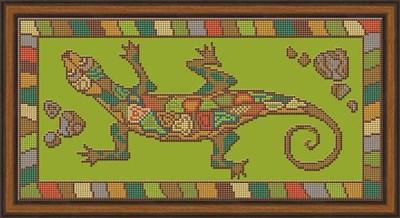 Набор для вышивания бисером «Ящерица» - фото 4621