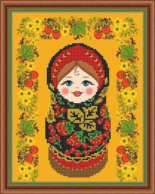 Набор для вышивания бисером матрёшка «Хохлома» - фото 4629