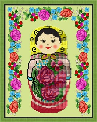 Набор для вышивания бисером Семёновская матрёшка - фото 4630