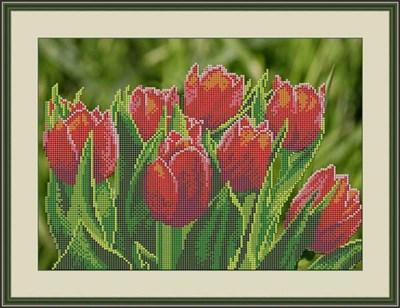Набор для вышивания бисером «Тюльпаны» - фото 4649