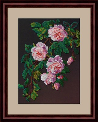 Набор для вышивания бисером «Розовые розы» - фото 4651