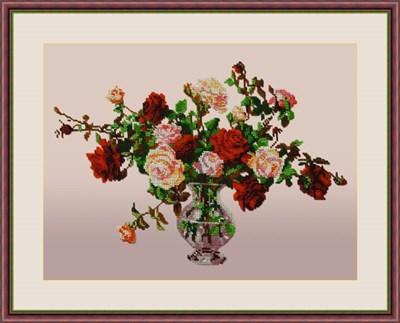 Набор для вышивания бисером «Букет роз» - фото 4652