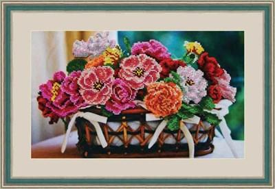 Набор для вышивания бисером «Цветочная корзина» - фото 4653