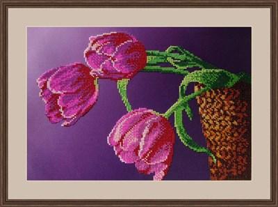 Набор для вышивания бисером «Три тюльпана» - фото 4654