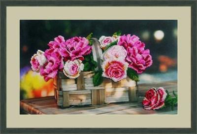 Набор для вышивания бисером «Розы в корзинке» - фото 4656
