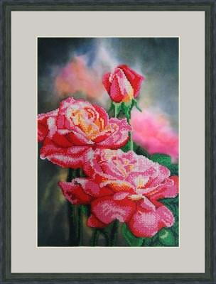 Набор для вышивания бисером «Нежные розы» - фото 4672