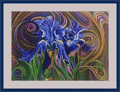 Набор для вышивания бисером «Синие ирисы» - фото 4680