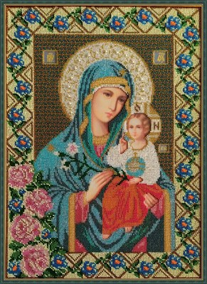 Набор для вышивания бисером Икона Божией Матери «Неувядаемый цвет» - фото 4719