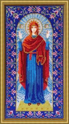 """Набор для вышивания бисером Икона Божией Матери """"Нерушимая стена"""" - фото 4726"""