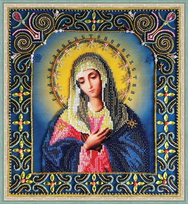 Набор для вышивания бисером икона Божией Матери «Умиление» - фото 4859