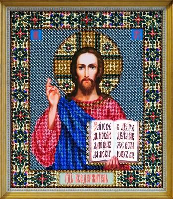 Набор для вышивания бисером икона «Господь Вседержитель» - фото 4869