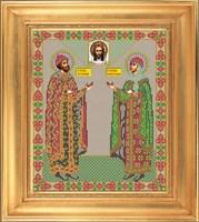 Икона ростовая «Святые Петр и Феврония Муромские»