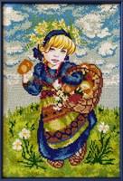 Набор для вышивания бисером «Девочка с лукошком»