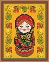 Набор для вышивания бисером матрёшка «Хохлома»