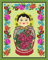 Набор для вышивания бисером Семёновская матрёшка