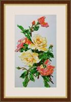 Набор для вышивания бисером «Розовая акварель»