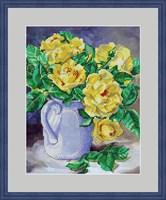 Набор для вышивания бисером «Желтые розы»