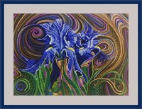 Набор для вышивания бисером «Синие ирисы»