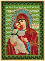 Набор для вышивания бисером Икона Божией Матери «Владимирская»