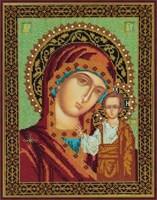 Набор для вышивания бисером Икона Божией Матери «Казанская»
