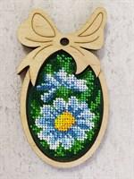 Набор для вышивания бисером в фигурной рамке Ромашка
