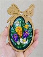 Набор для вышивания бисером в фигурной рамке Крокусы