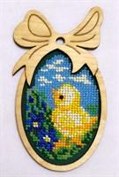 Набор для вышивания бисером в фигурной рамке Цыплёнок