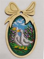 Набор для вышивания бисером в фигурной рамке Гуси